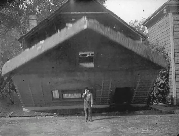 Buster Keaton and wall in Steamboat Bill Jr 1928 005