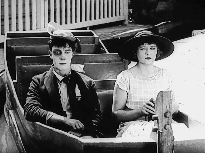 Buster Keaton and Phyllis Haver in The Balloonatic 1923 04