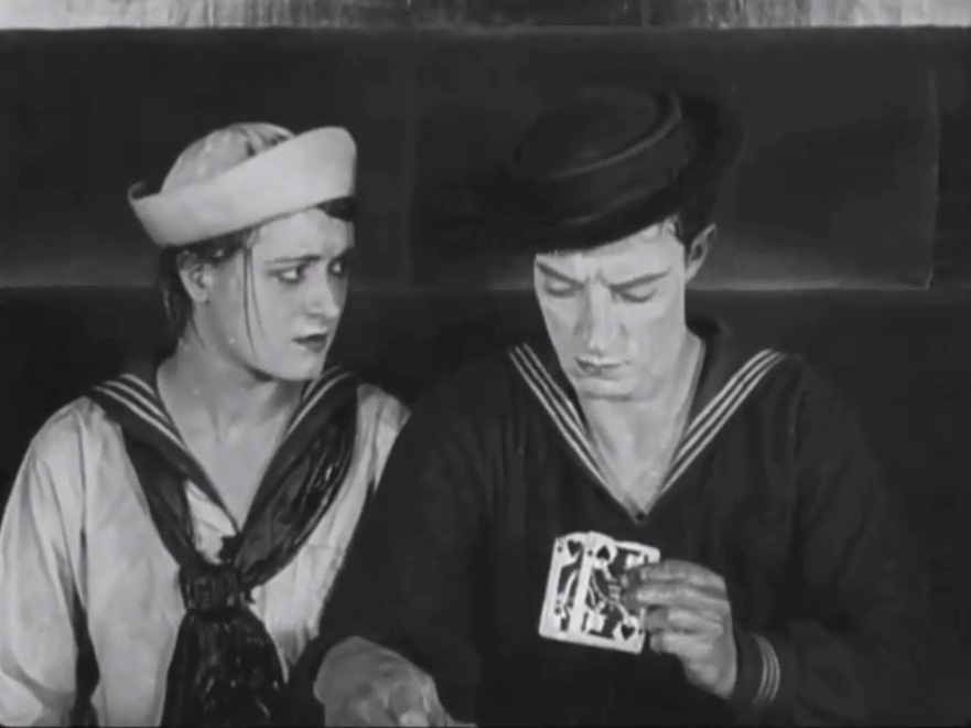 Buster Keaton and Kathryn McGuire in The Navigator 1924 07