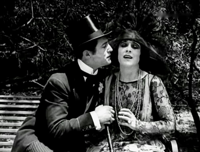 Geraldine Farrar and Lou Tellegen in The World and Its Woman 1919 1