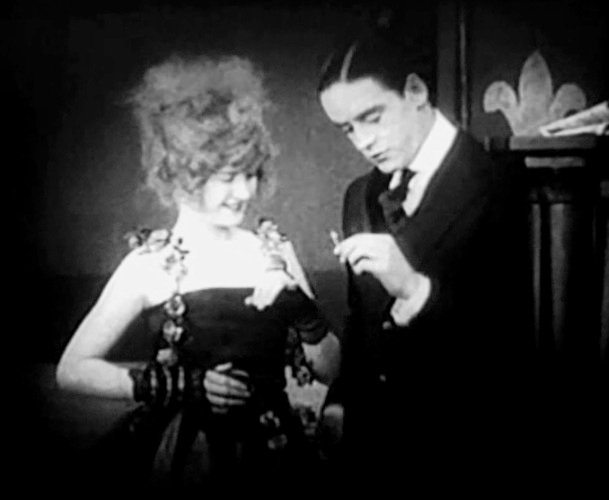 Mae Marsh and Robert Harron in A Child of the Paris Streets 1916 7