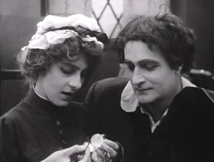 Wilfred Lucas and Linda Arvidson in Enoch Arden 1911 director DW Griffith cinematographer Billy Bitzer 7