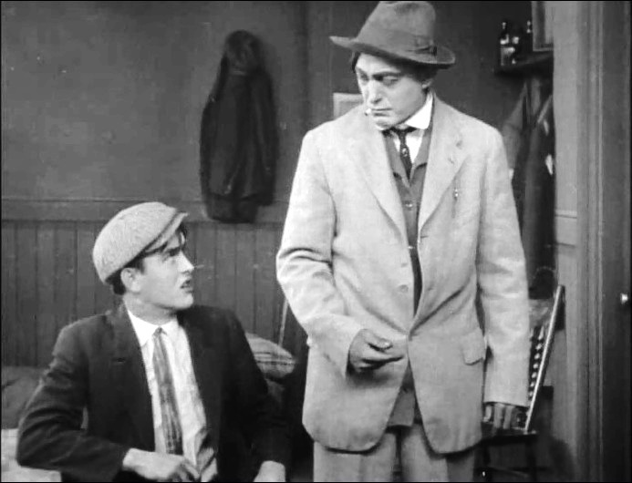 Robert Harron and Harry Carey in The Burglars Dilemma 1912 director DW Griffith cinematographer Billy Bitzer 02