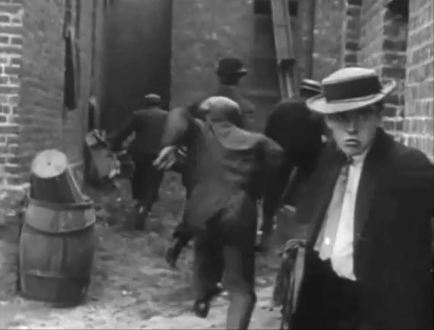 Robert Harron in The Musketeers of Pig Alley 1912 director DW Griffith cinematographer Billy Bitzer 17