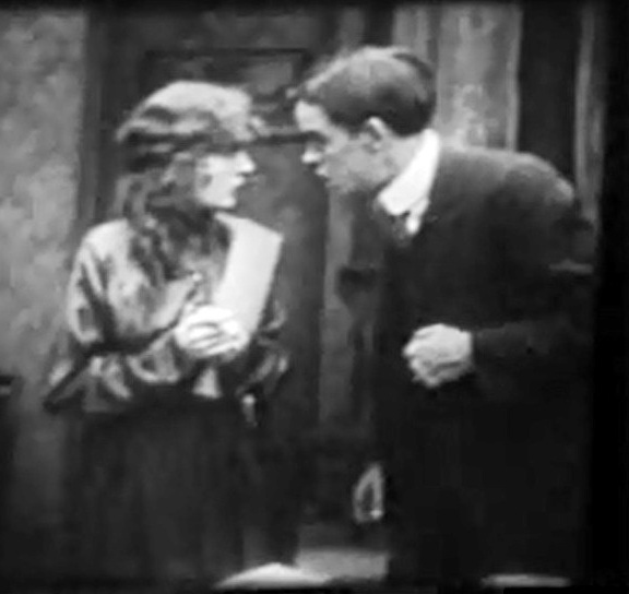 Robert Harron and Mae Marsh in The Reformers 1913 director DW Griffith cinematographer Billy Bitzer 000