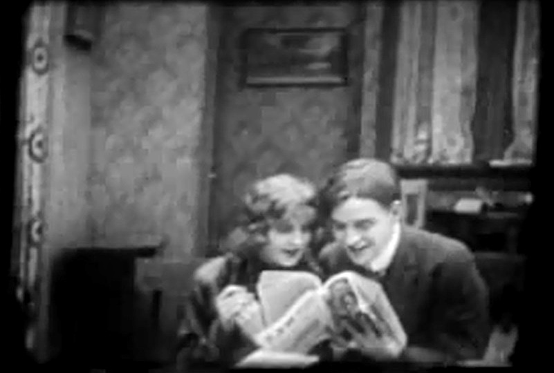 Robert Harron and Mae Marsh in The Reformers 1913 director DW Griffith cinematographer Billy Bitzer 01