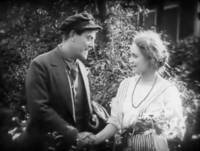 Victor Seastrom and Jenny Hasselqvist in The Hell Ship 1923