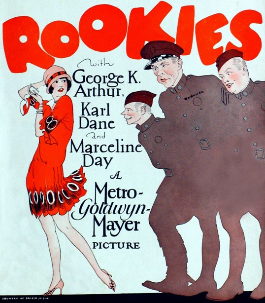 Marceline-Day-and-George-Arthur-and-Carl-Dane-in-Rookies-poster