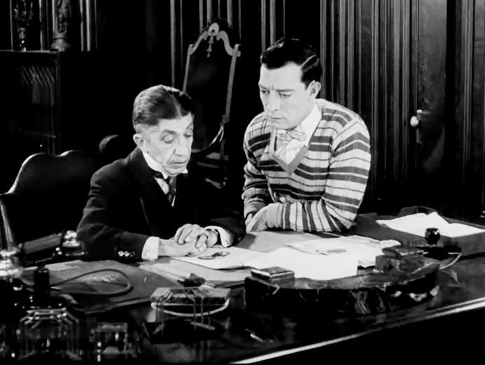 Buster-Keaton-and-Snitz-Edwards-in-College-1927-24
